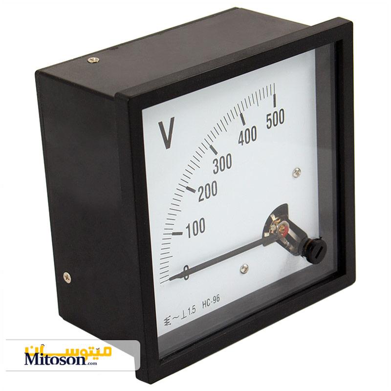ولت متر آنالوگ 500 ولت متناوب - 90 درجه میزوره
